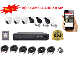 Bộ 6 Camera AHD 2.0 MP