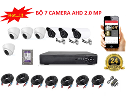 Bộ 7 Camera AHD 2.0 MP